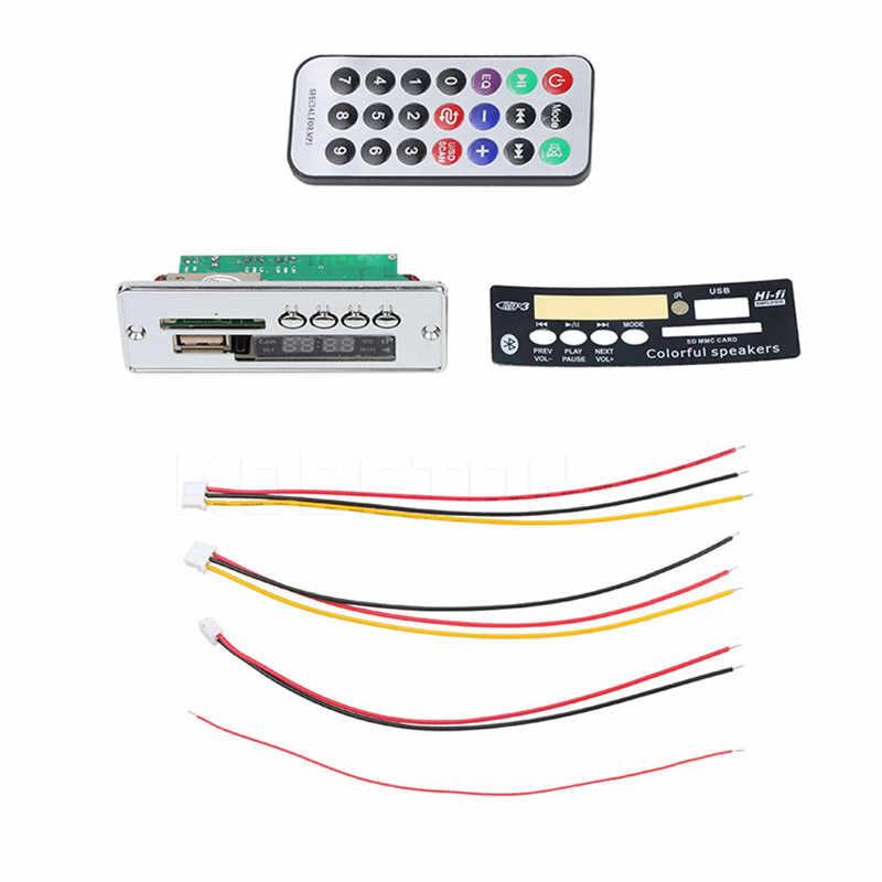 5-24 V Bluetooth カーキット MP3 プレーヤーハイファイ FM ラジオワイヤレスオーディオレシーバー 3.5 ミリメートル USB AUX TF カード DIY Bluetooth カースピーカー