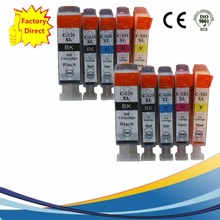 10x PGI 520 PGI520 PGI-520 PGI-520XL CLI521 XL Inkjet Cartridges For Canon Pixma MP980 MP990 IP-3600 IP-4600 IP-4700 Ink Printer