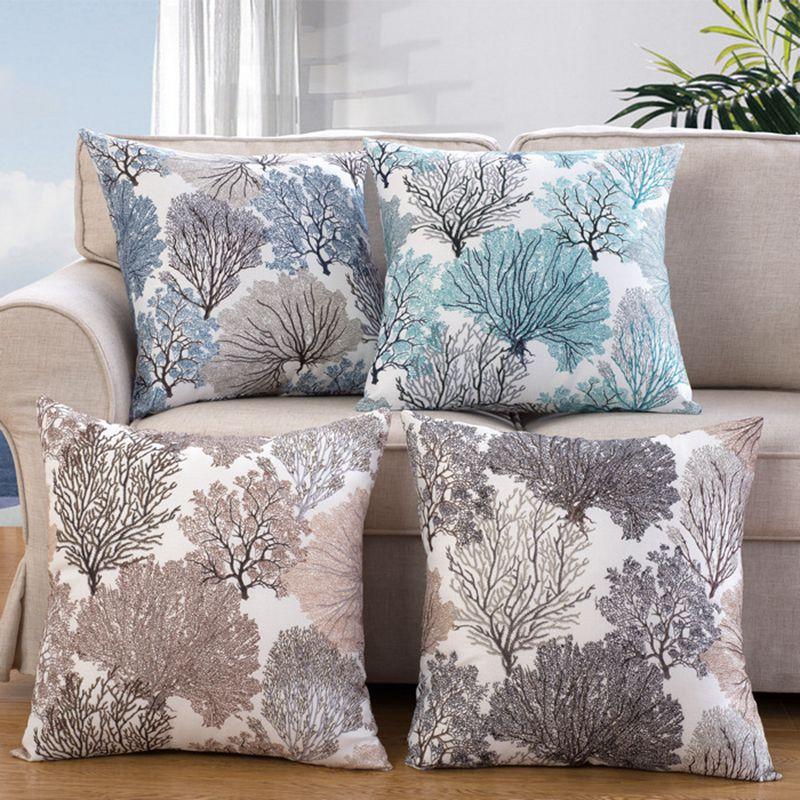 Cushion Cover Wihtout Inner Pillow Case Pattern Design Decorative Throw Pillows  Sofa Cojines Almofada