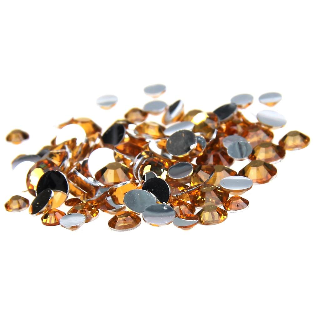 2016 New Arrive 2-6mm Topaz Resin Rhinestones Non Hotfix Glitter Beauty Beads For Nails Art Backpack DIY Design Decorations