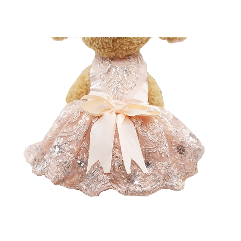 Wedding Dresses for Dogs Promotion Pet Costume Clothing Apparel 3D Flora Shirt Cotton Fabric for Spring Summer Autumn Parties
