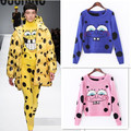 Free shipping New 2015 Europe and American knit sweater cute cartoon SpongeBob