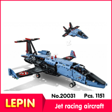 LEPIN 20031 187 Pz Serie Technic Variabile Getto D'aria Da Corsa Aeromobili Modello Building Blocks Set Mattoni Compatibile Legoe 42066 Regalo