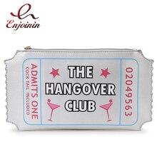 Nova moda dos desenhos animados letras de prata impressão envelope bolsa de embreagem festa bolsa de ombro das senhoras bolsa do mensageiro bolsa