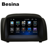 Besina 2 Din 7 Inch Android 6 0 Car DVD Player For Ford Fiesta Auto Radio