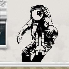 Free shipping The Astronaut Wall Sticker Space Rocket Moon Decal Children Room Living Vinyl Home Decor Art
