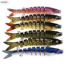 7 Colors Fishing Lure Multi Jointed Hard Bait 13.28cm 19g Lifelike Joint Wobblers Segments Swimbait 1PCS