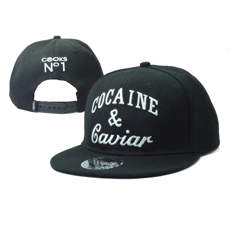 2017 Fashion Baseball Hat Adjustable Snapback Cap Cocaines & Caviar Men Women Free Shipping