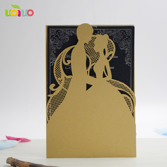 Aliexpress buy 10pcs gold series 2016 new style lace couple 10pcs gold series 2016 new style lace couple wedding invitation card blank inner card m4hsunfo