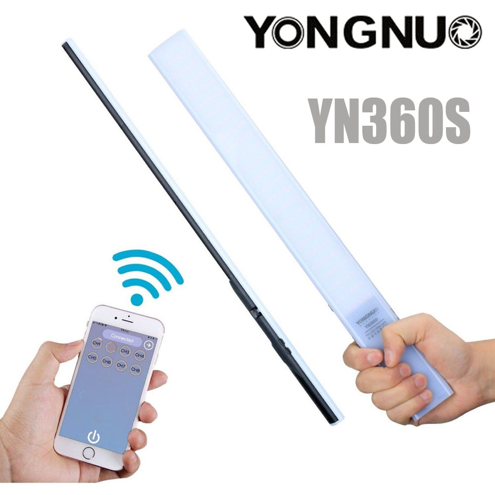 YONGNUO YN360S led éclairage vidéo De Poche bâton de glace avec NP-F550 chargeur de batterie 3200 K-5500 K Photographyic Lampe Téléphone App Contrôle