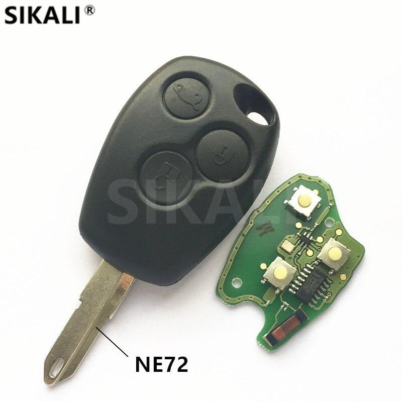 3 buttons Car Remote Key for Duster Logan Fluence Clio Vivaro Movano Master Traffic Kangoo Megane Laguna PCF7946/PCF7947 Chip