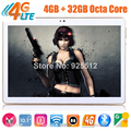 2017 Newest 10 inch 3G 4G FDD LTE tablet Octa core 1920*1200 IPS HD 8.0MP 4GB RAM 32GB ROM Android 6.0 GPS tablet 10 10.1 + Gift