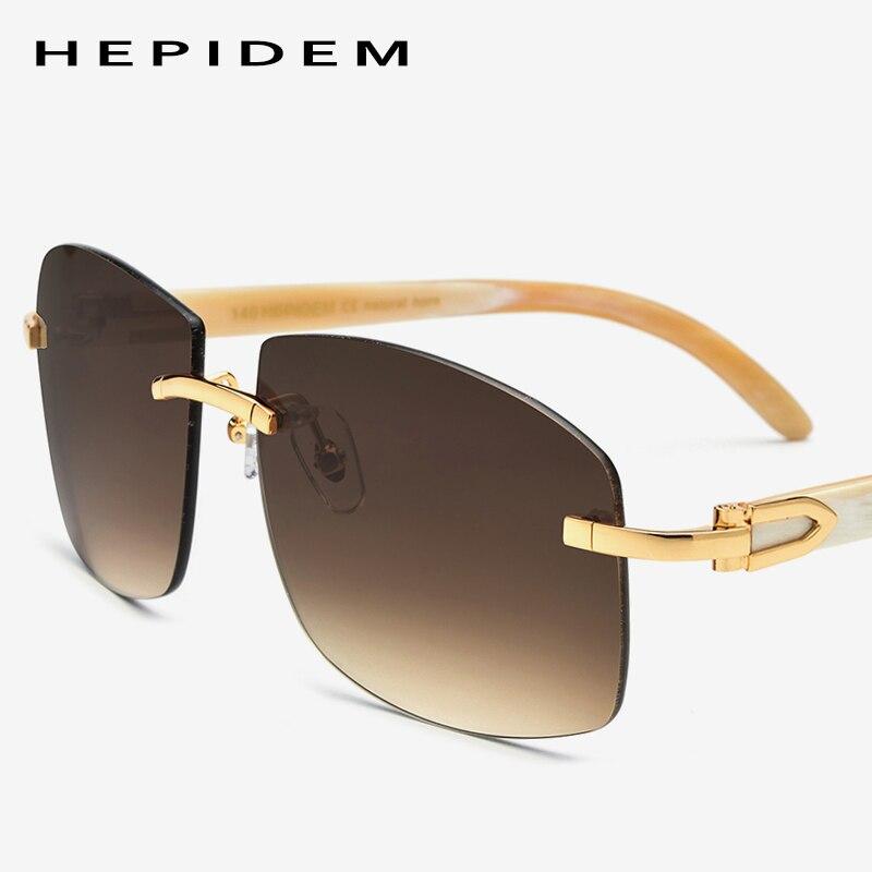 c184908365fc Buffalo Horn Glasses Frame Women Squared Rimless High Quality Square Men's Sunglasses  Luxury Eyewear Carter Eyeglasses