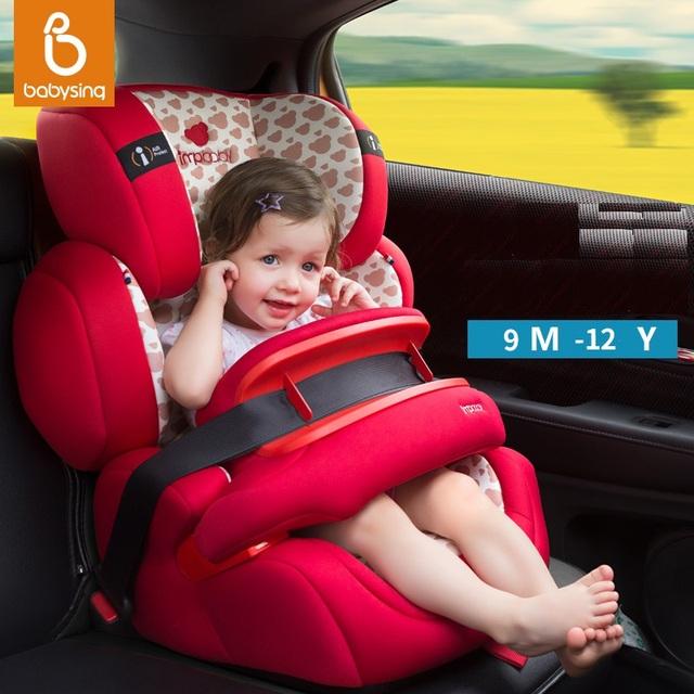 3 COLORES --- impbaby bumperbar de lujo Asiento de Coche de seguridad para Niños con frontal, adecuado para 9 meses a $ number Años