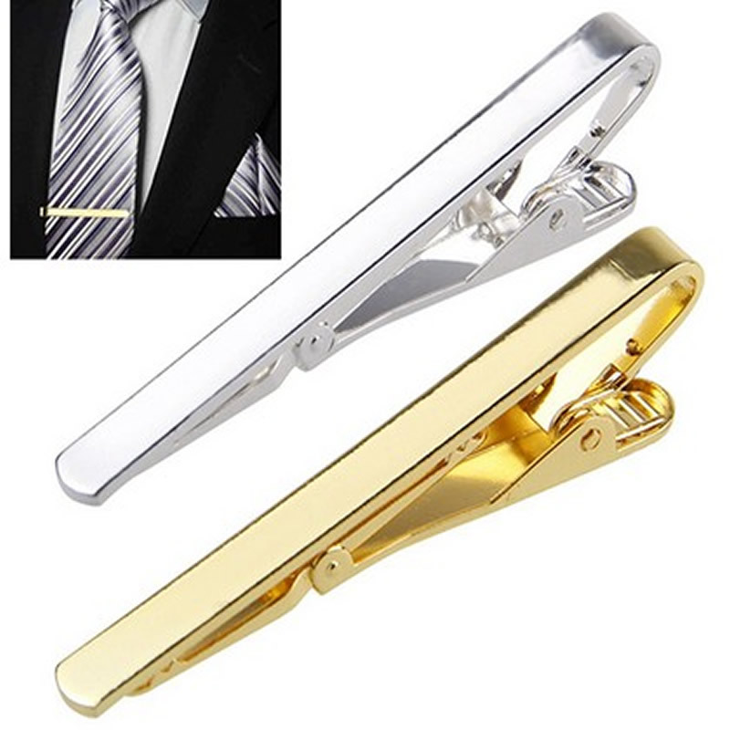 Lightweight and stylish men's tie clip Golden silver tone tie decoration Party Bar Business Practical Tie Clip(China)