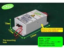 高電圧電源を除去するための 30KV 出力煙ランプブラック、静電空気清浄機、静電 fleld