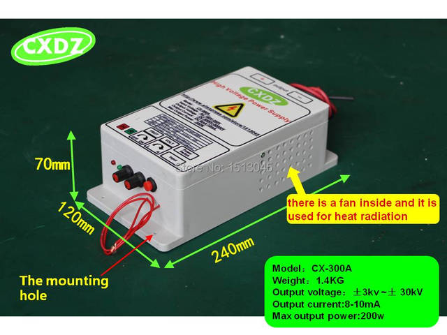High Voltage Power Supply With 30kv Output For Removing
