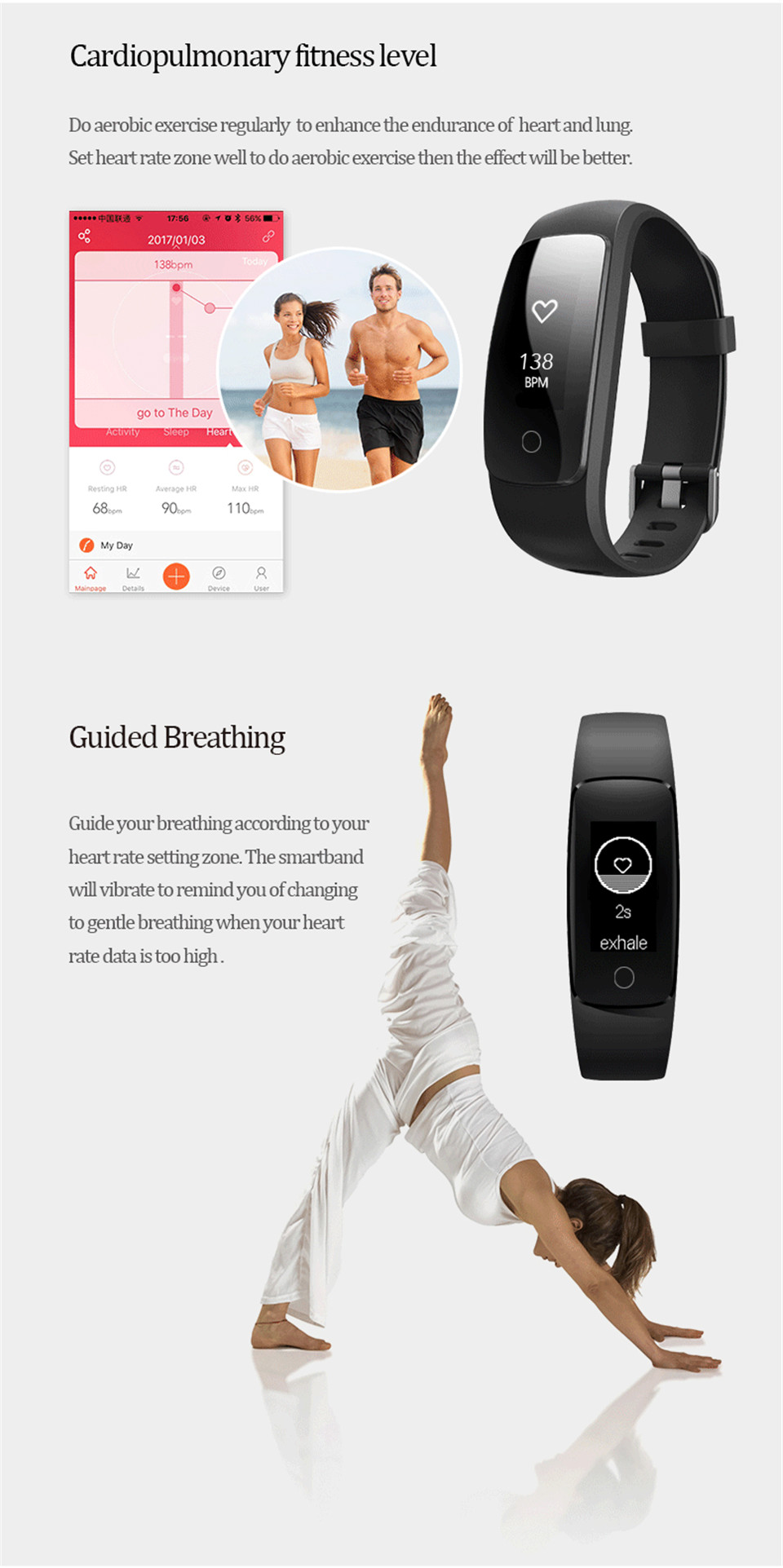 Teamyo ID107 Plus Sport Smart Band Heart Rate Monitor Smart Watch Guided Breathing Fitness Tracker Smart Bracelet Remote Camera 10