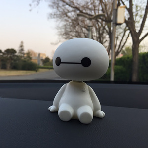 2020 Big Hero 6 Baymax Anime PVC Action Figure Cartoon Cute Robot Shaking Baymax Dolls Car Decor Kids Toys Birthday Gift(China)