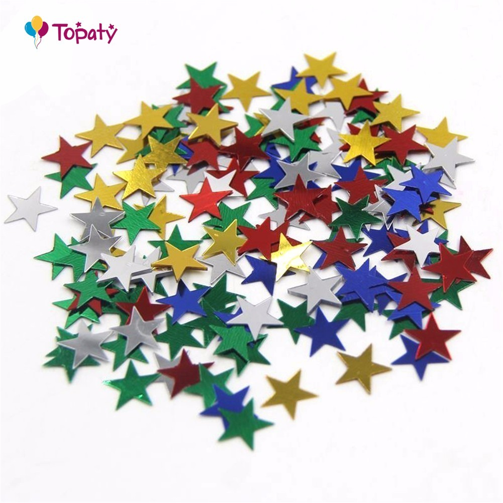 1000PCS/Bag Table Party Scatters Confetti Gold Silver 10MM Star For Home Garden Wedding Party Table Decoration