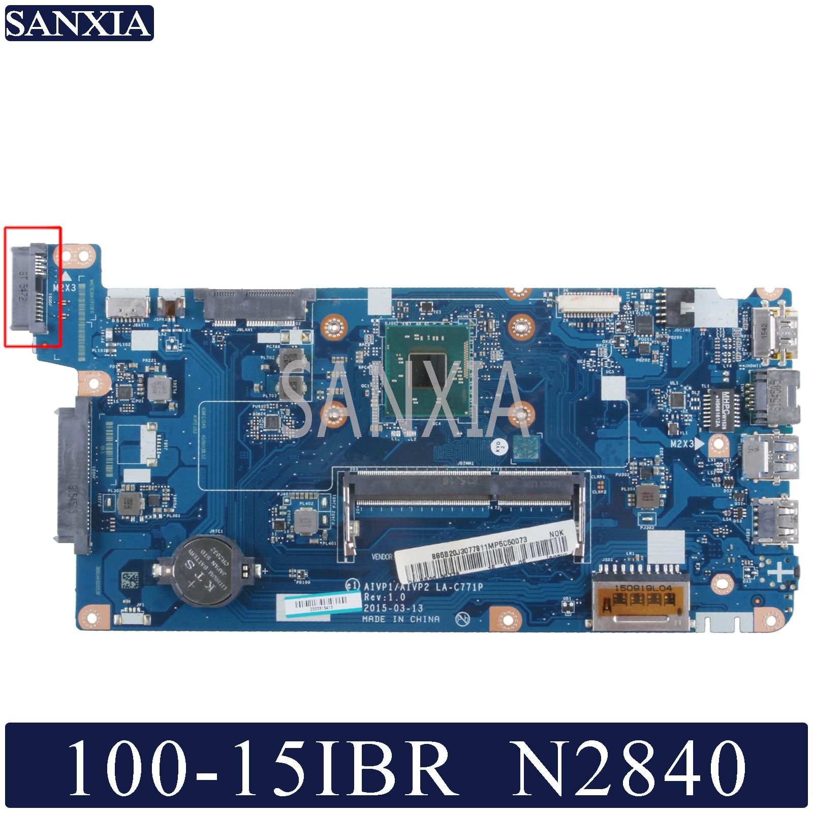 KEFU LA-C771P Laptop Motherboard For Lenovo Ideapad 100-15IBR Original Mainboard N2840/2830 CPU