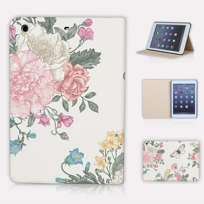 Fashion High Quality Foral With Stand Flip PU Leather For iPad Mini 2 1 Case For Apple iPad Mini 1 2 3 Smart Case Cover
