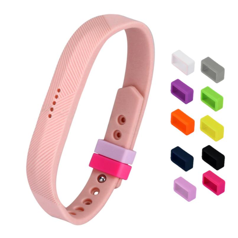 NEW 2017 10 Colours Secure Holder Silicone Bands Fasteners Clasp for Fitbit Flex 2 Wristbands Specially Design #0430
