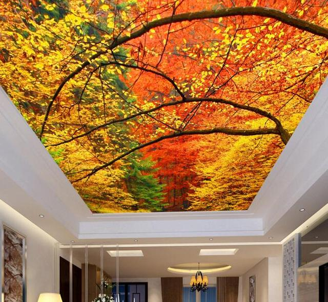 3d room wallpaper custom mural non woven Autumn forest landscape