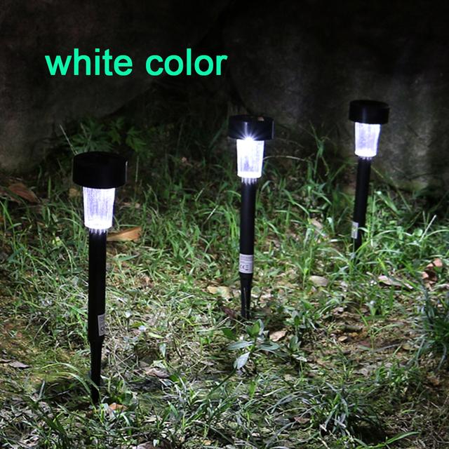 2017 New 12 pc Solar LED Light Outdoor Solar Lawn Garden Lights Landscape Path Stake Solar Lamp Plastic LED Spike Lights