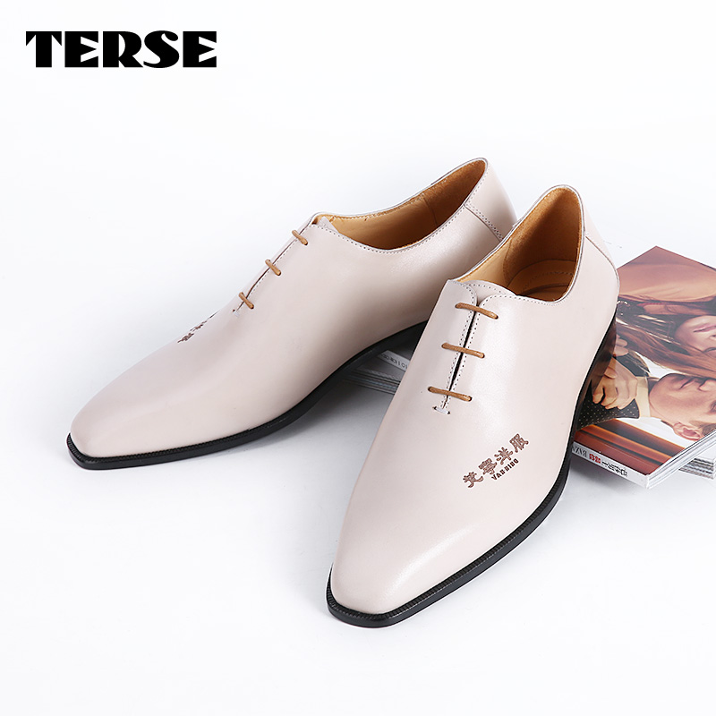TERSE_Mens handmade fashion shoes Italian calfskin genuine leather oxfords orginal color formal mens shoes goodyear welted 2016 luxury mens goodyear welted oxfords shoes vintage boss brogue shoes italian mens dress shoes elegant mens gents shoes derby