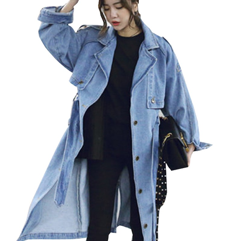 2018 Spring Denim   Jacket   Long Sleeve Coats Womens Jeans   Jacket   Vintage Single Breasted   Basic     Jackets
