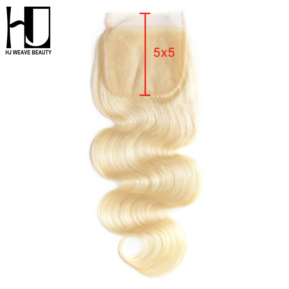 Brazilian Body Wave 5x5 Lace Closure 613 Blonde 8 20 Inch Human Hair Closure Swiss Lace