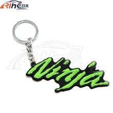 motorcycle 3D soft rubber motorcycle key ring keychain For Kawasaki NINJA 250R 300 ER6 650 650R 1000 ZX6 ZX7 ZX9 ZX10 ZX12 ZX14