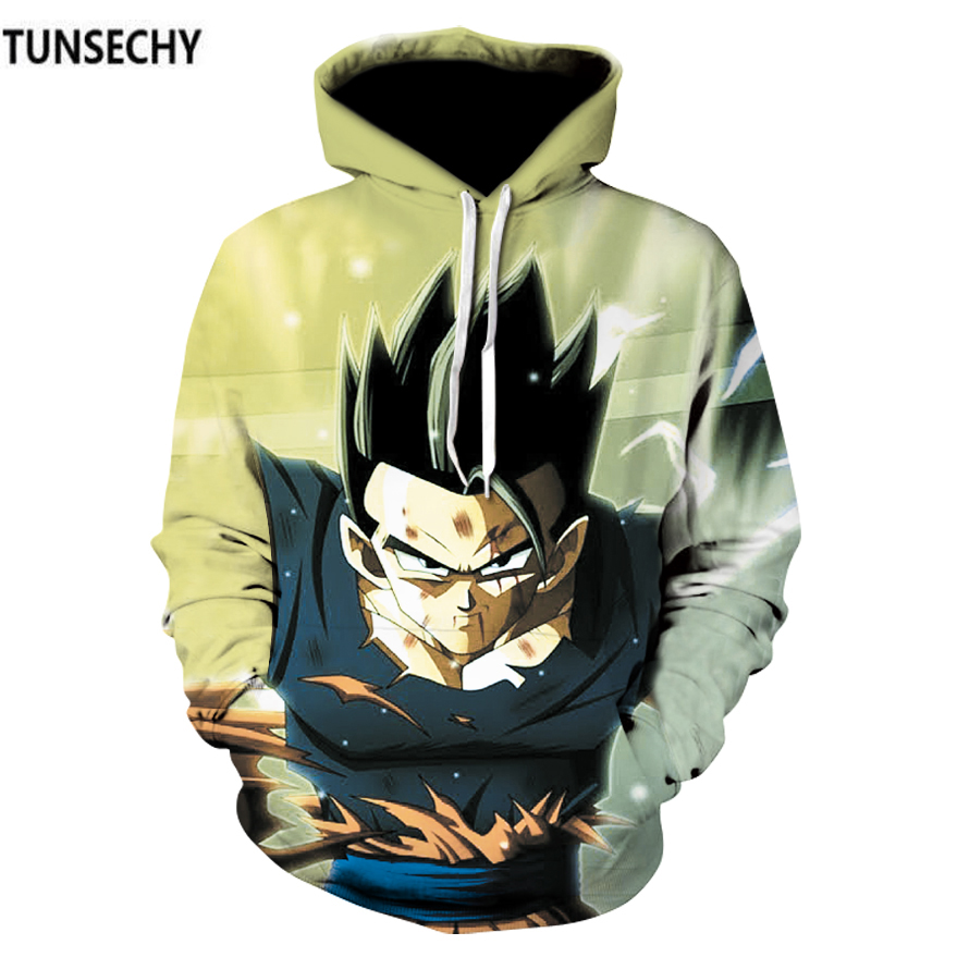 TUNSECHY Brand Dragonball sun wukong hoodies and sweatshirts 3D Digital printing Dragonball sun wukong anime men's clothing