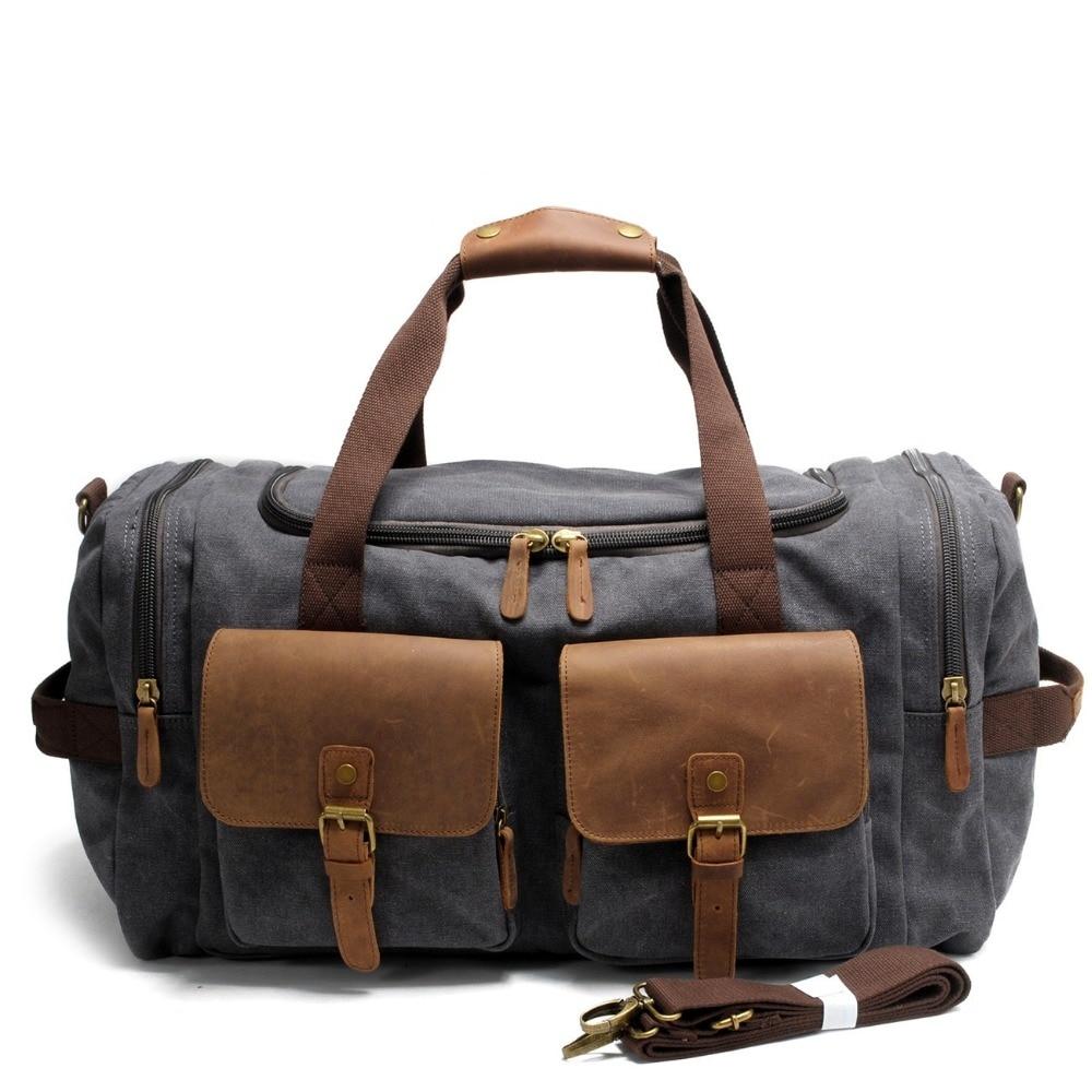 DB62 Hot! Travel Bag Large Capacity Men Hand Luggage Travel Duffle Bags Canvas Weekend Bags Multifunctional Travel shoulder Bags