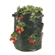 Feutre tissu/PE fleurs culture fraise légumes plantation sacs de culture barils pommes de terre planteur sacs pour fournitures de jardin