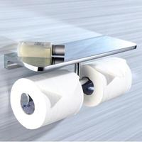 New Top High Quality Solid Brass Chrome Finish Toilet Paper Holder Bathroom Mobile Holder WC Rod