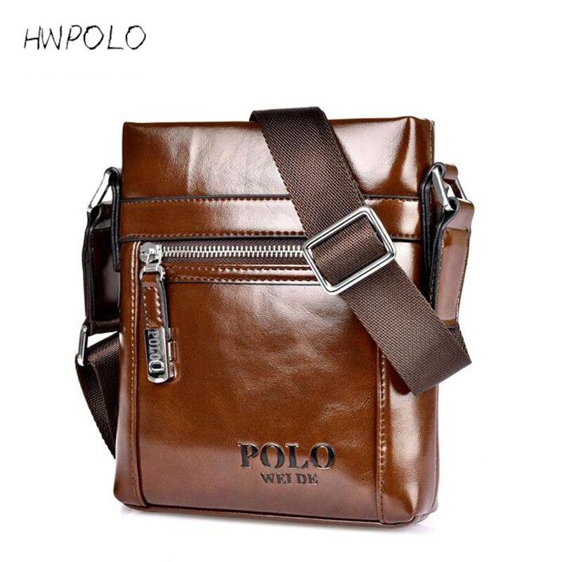 HWPOLO 2017 men messenger bag famous brand design leather briefcases men shoulder bag business Vintage crossbody