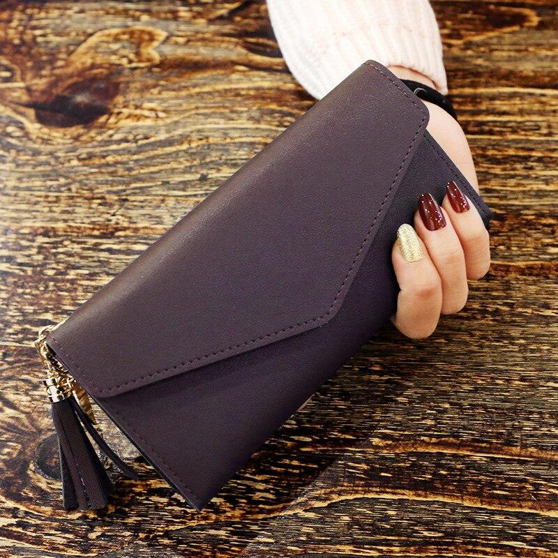 Модные женские кошельки, простые кошельки на молнии, черные, белые, серые, красные, длинный секционный клатч, кошелек из искусственной кожи, сумка для денег