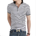 New Brand Comprison Skirt Men's Polo Shirts Cotton Korean Style Slim Short Sleeve Polo Shirt Men Striped Turndown Collar Polos