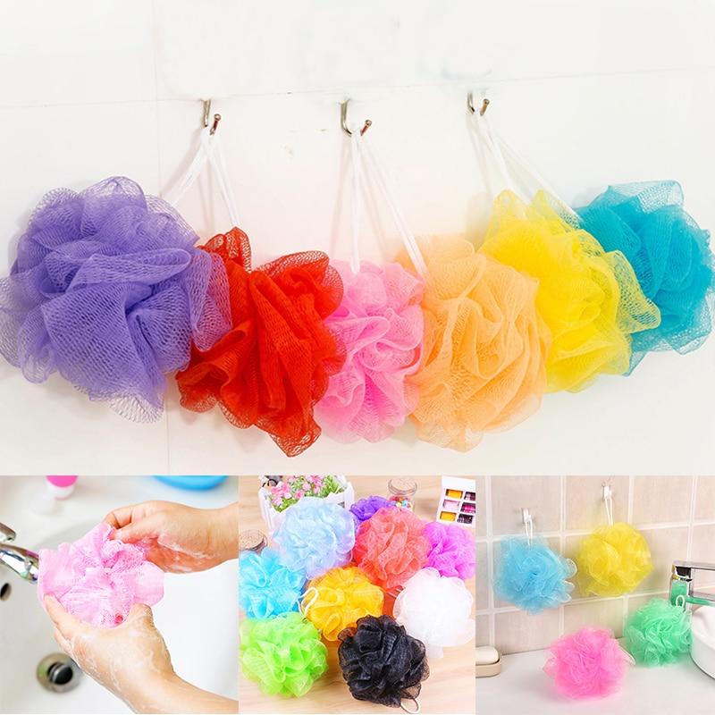 Multicolour-Bath-Sponge-Tubs-Ball-Bath-Towel-Scrubber-Body-Exfoliating-Shower-Ball-Body-Loofah-Massage-Cleaning