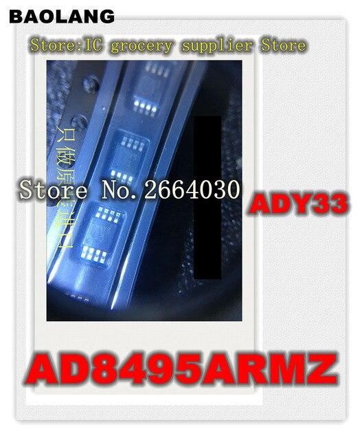 20pcs/lot AD8495ARMZ AD8495ARM AD8495A AD8495 Y33 MSOP8