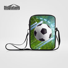 Dispalang Heren Mini Schoudertas Cool Soccers Voetballen Print Casual Business Messenger Bags Sportieve Basketballen Cross Schooltassen(China)