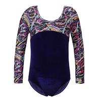 Toddler Girls Long Dance Athletic Leotards Ballet Plus Size Child Teens Gymnastics Leotards Acrobatics for Kids Dancewear 2017