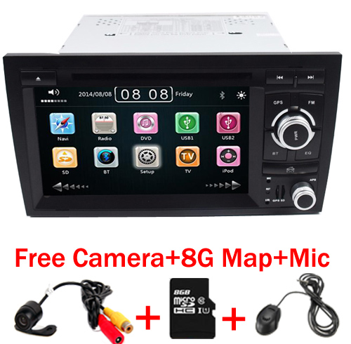 2din Car DVD GSP Navi for Audi A4 GPS (2002 2008) Audi S4/RS4/8E/8F/B9/B7 With GPS Bluetooth Radio RDS Canbus Map