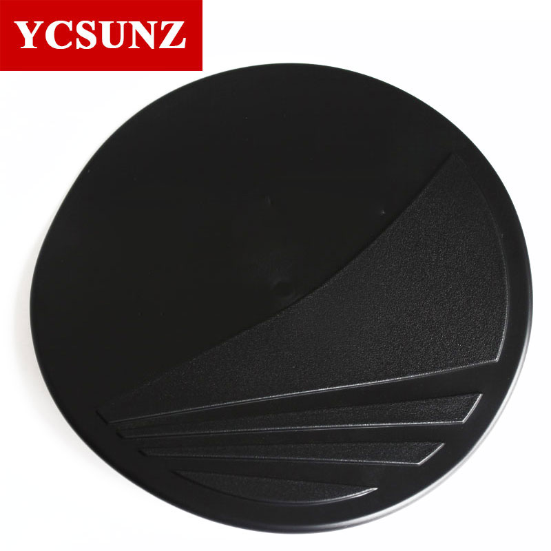 2015 Black Gas Tank Cover For Isuzu Mu-x 2017 Accessories Car Styling Exterior Parts For Isuzu Mux 2014-2017 Accessories Ycsunz(China)