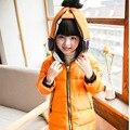 2016 Nova Crianças Meninos Meninas Outerwear Casaco de Inverno Criança Para Baixo Parkas Com Capuz Para Baixo Casaco Mais Grosso Jaqueta Criança Crianças Presente de Natal