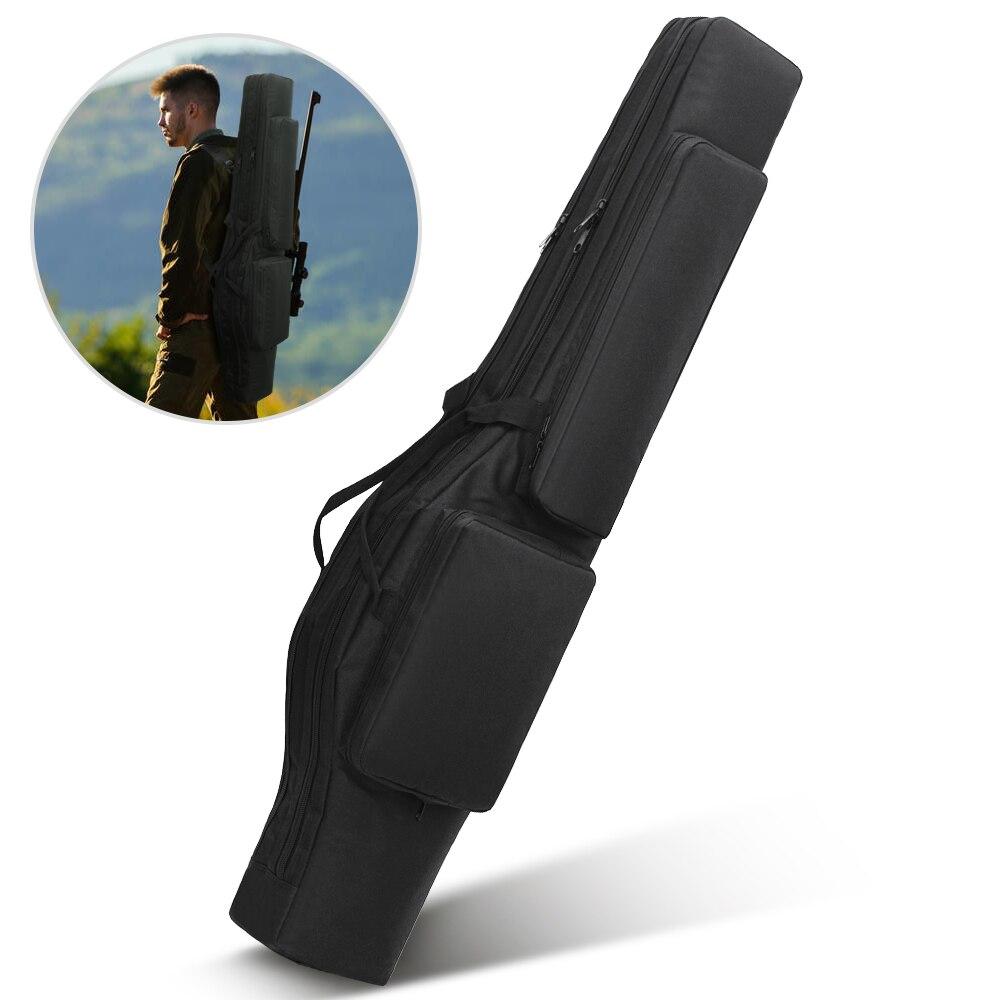 Tactique 120 CM double sac de fusil sac à dos pistolet sac de transport poche Airsoft fusil de chasse rembourré boîtier-étui en plein air militaire sac de chasse - 2