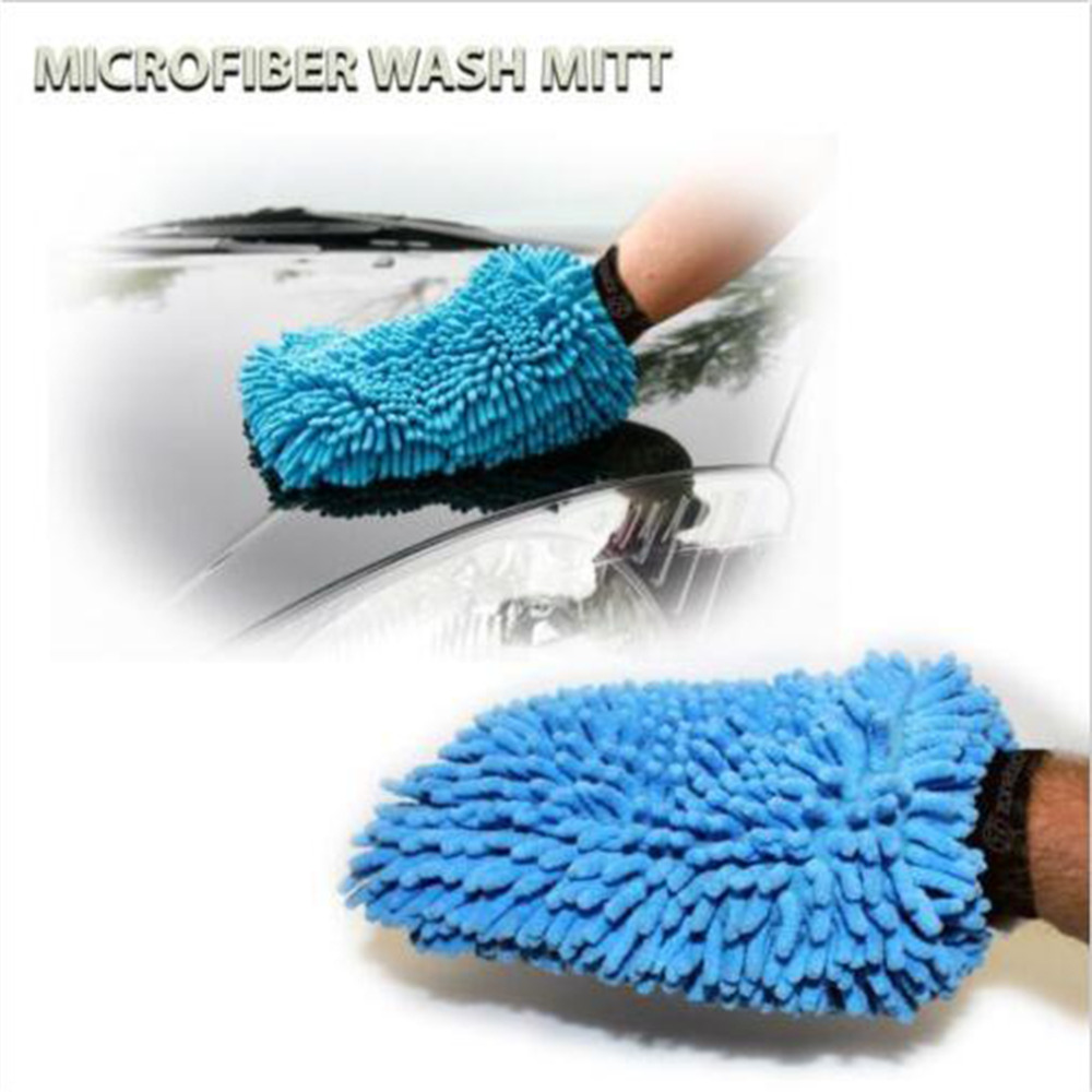 2017 New 1 pcs Super Mitt Microfiber Household Car Wash Washing Cleaning Gloves Car Washer Anti Scratch Wholesale