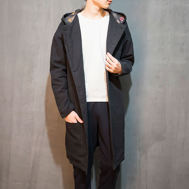 2018 Sale Men Coat Trench Coat In The Winter Long Windbreaker Men Hanfu Chinese Wind Single-breasted Cotton And Gown Male Cloak